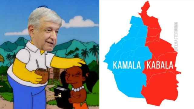 Meme te llamare Kabala Harris AMLO