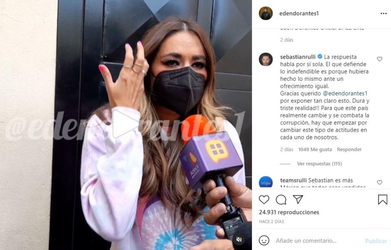 Sebastián Rulli responde a Galilea Montijo sobre los famosos que vendieron su voto