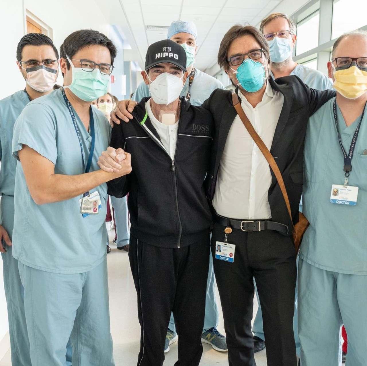 Toño Mauri sale del hospital se cae