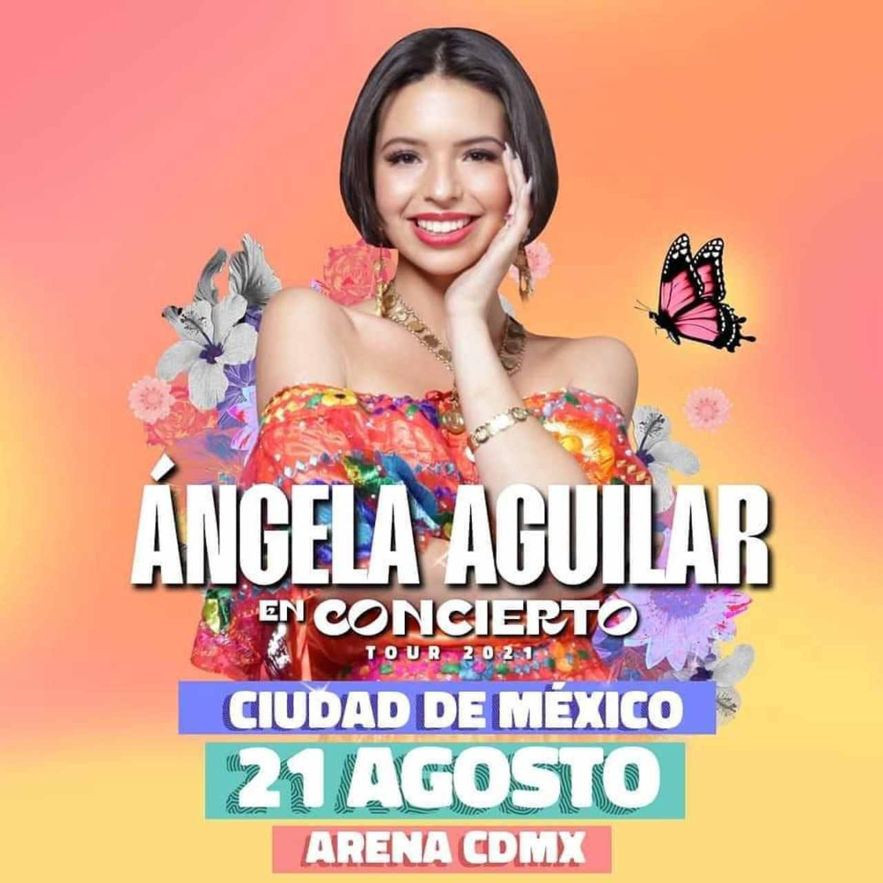 Flyer del concierto de Ángela Aguilar