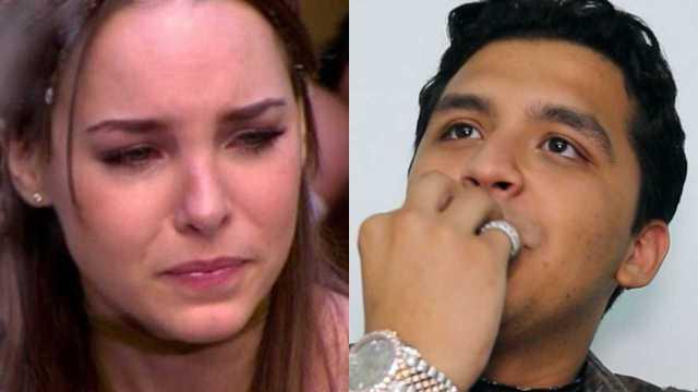 Belinda publica video de Christian Nodal llorando