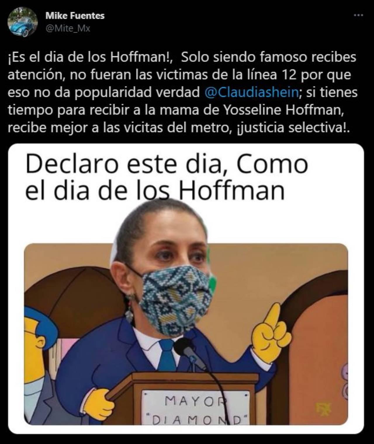 YosStop: Sheinbaum recibe críticas por privilegios a los Hoffman
