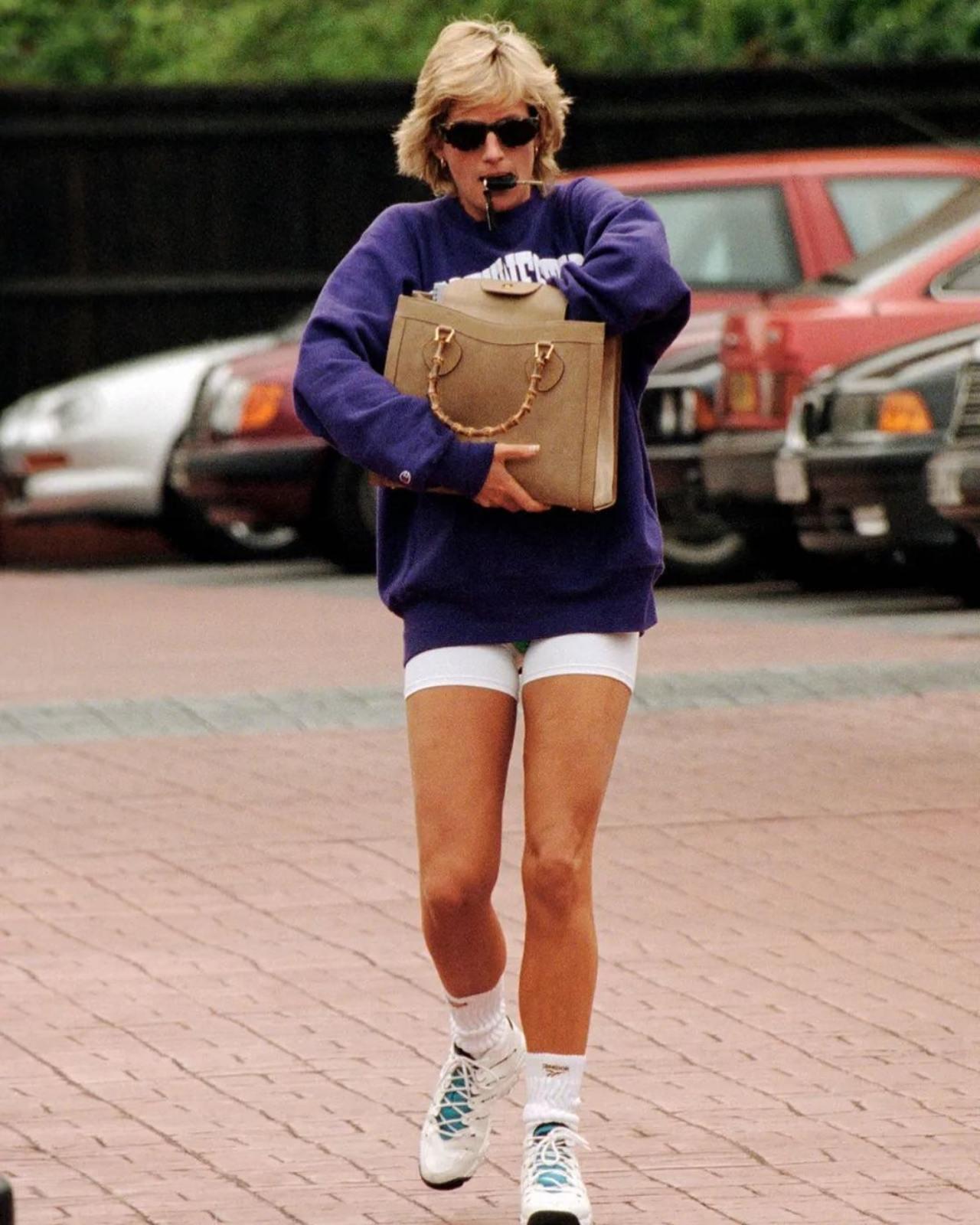 Look deportivo de la princesa Diana