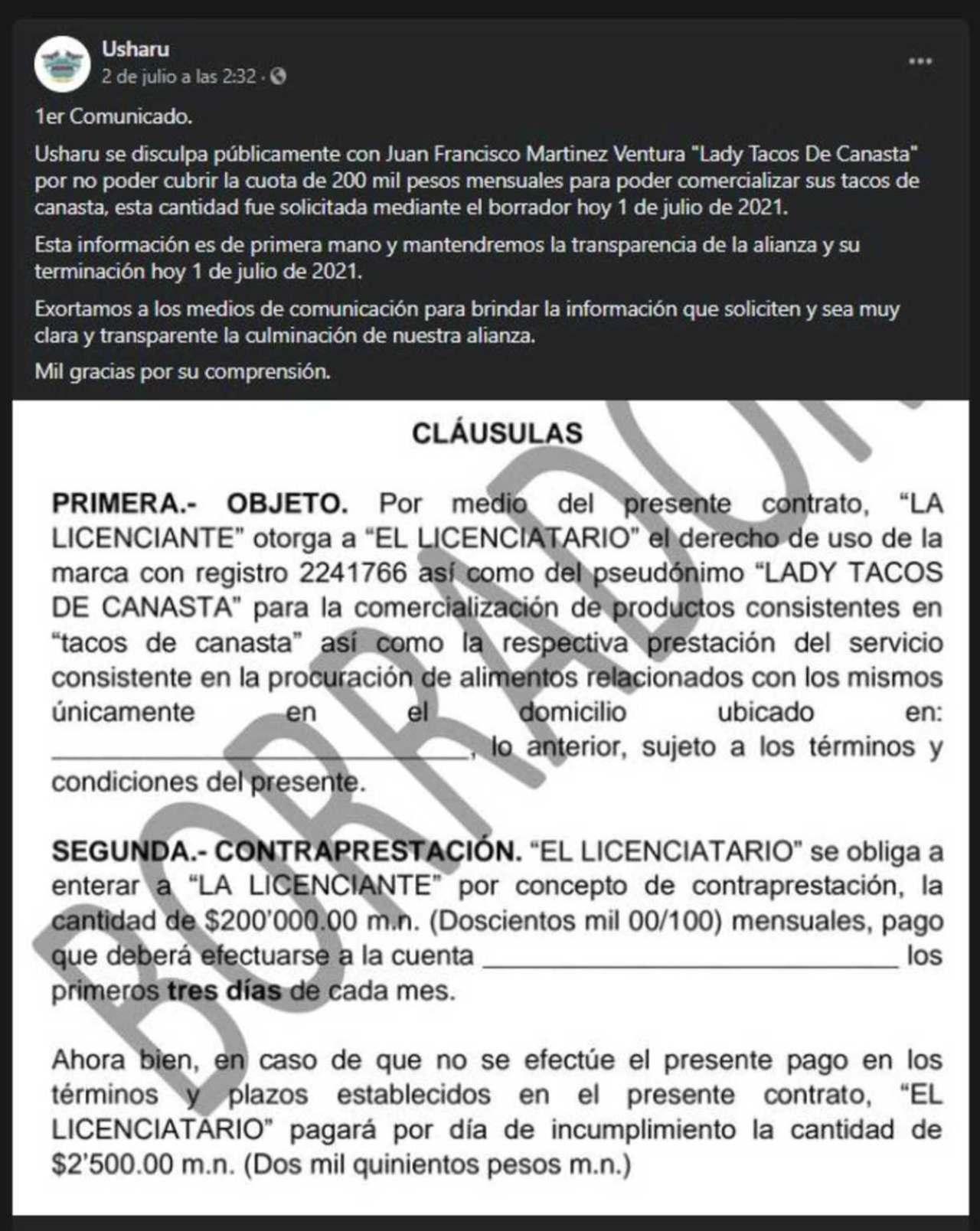 restaurante Lady Tacos Canasta 200 mil