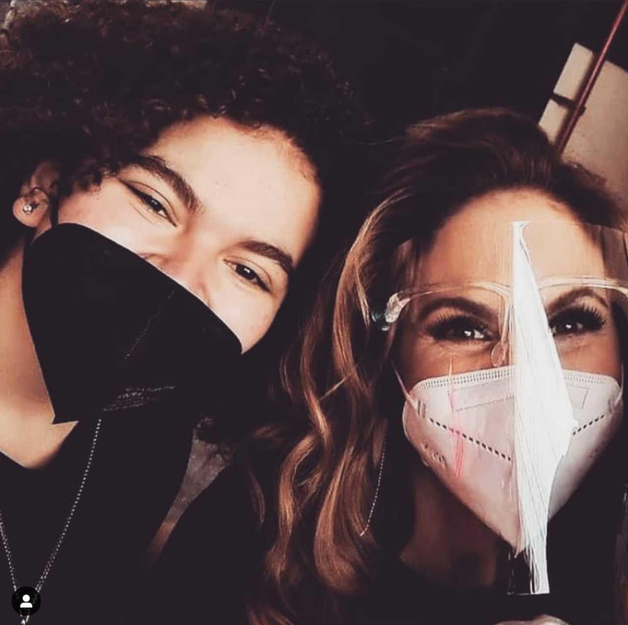 Lucero Mijares con su mamá