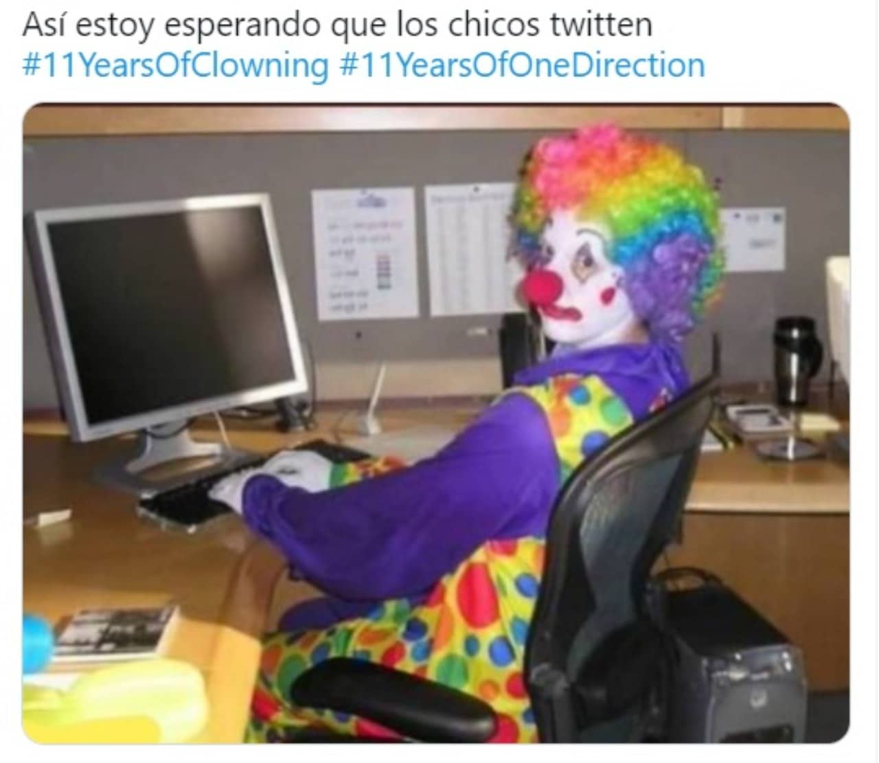 meme payaso quede reencuentro one direction