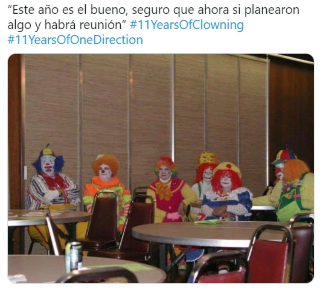 meme payasos del reencuentro one direction