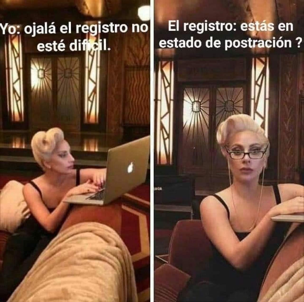 Meme Lady Gaga registro vacuna postracion