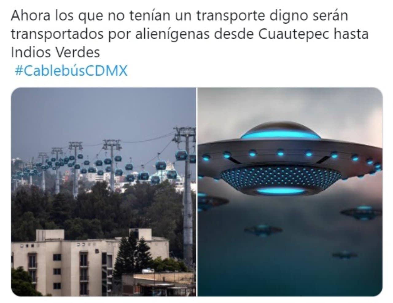 Meme cablebus transporte alienigena