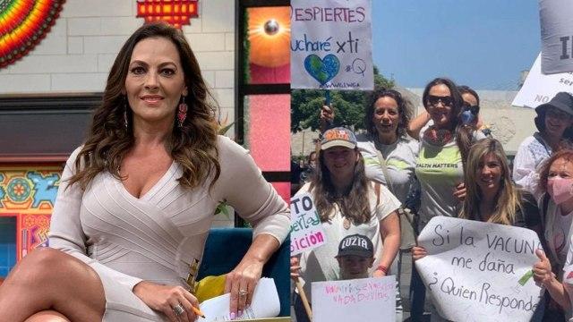 Veronica el Castillo protesta vacuna