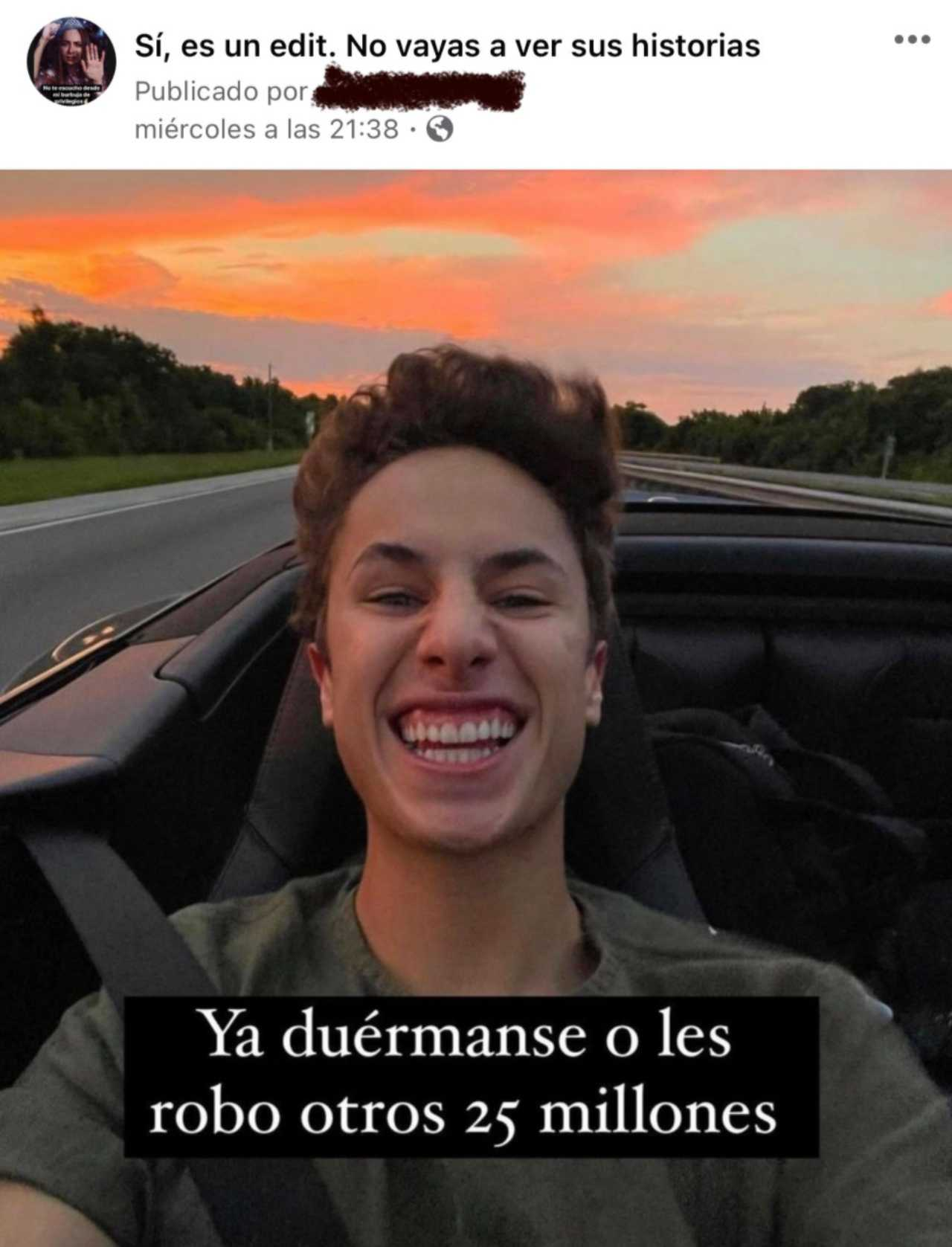 Meme de la muerte del influencer Juanpa Zurita
