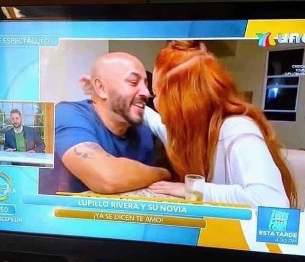 Lupillo Rivera con su novia