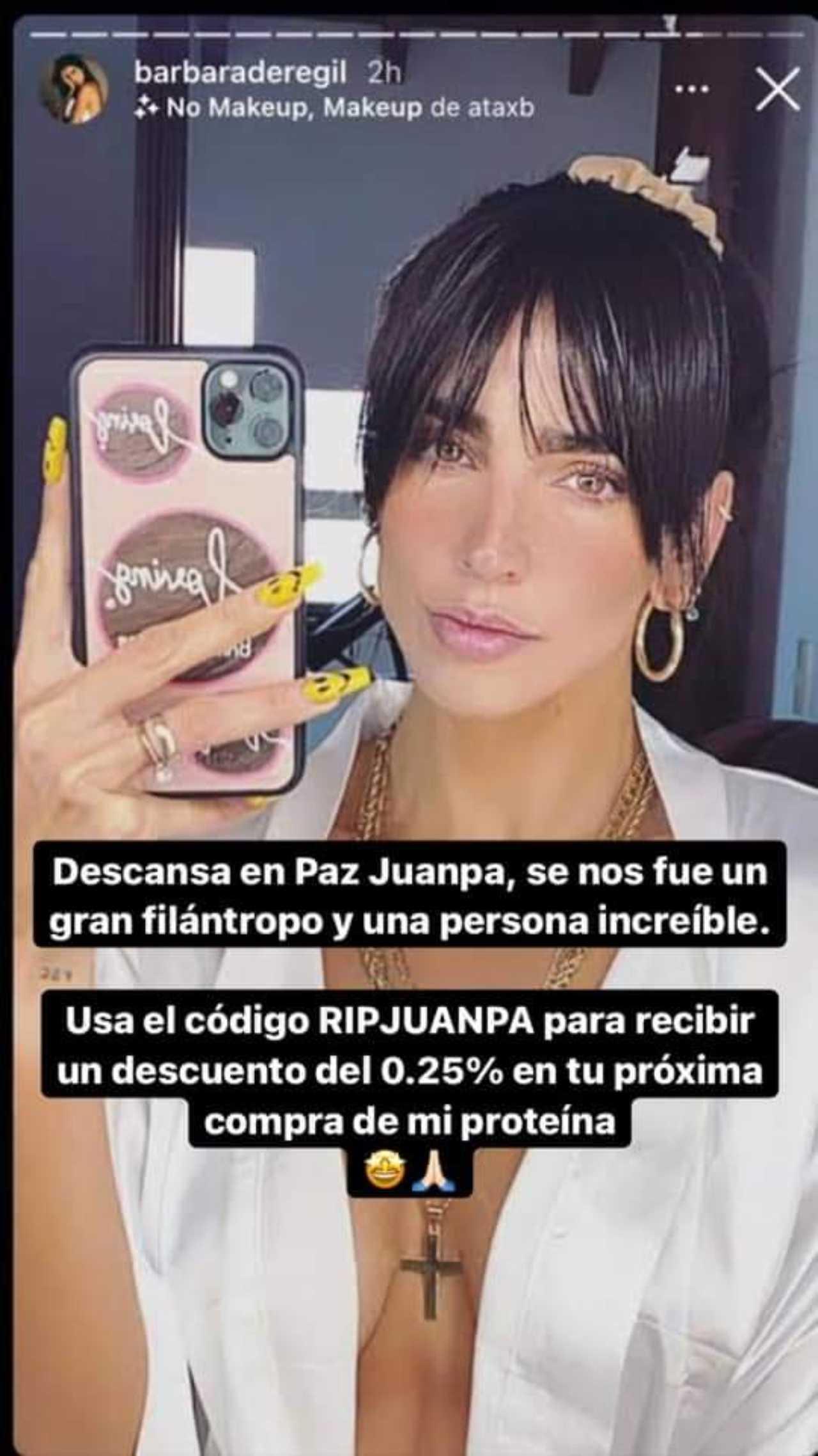 Meme de la muerte de Juanpa Zurita con Bárbara de Regil