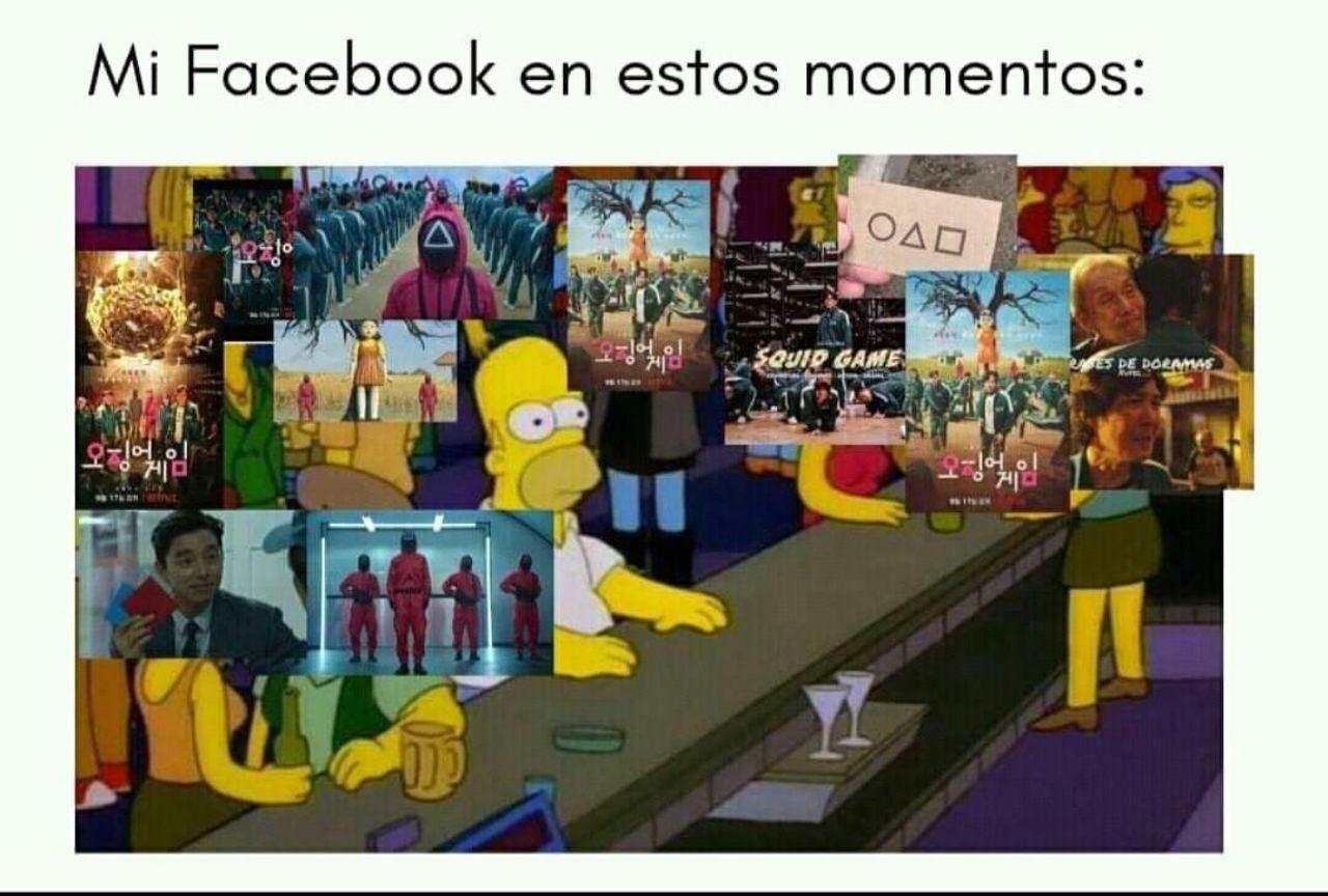 Facebook memes el juego del calamar