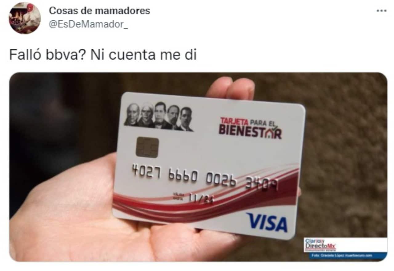 meme bbva tarjeta bienestar fallas caida