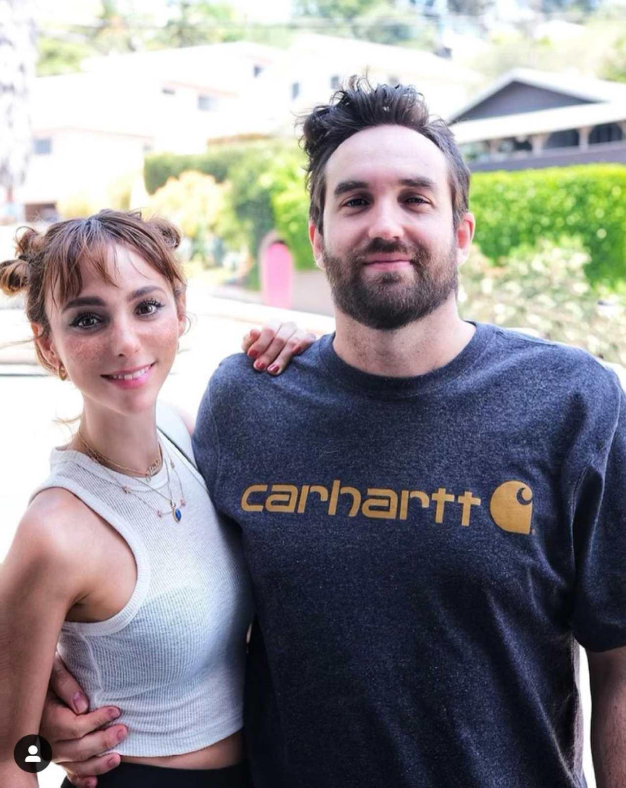 Natalia Téllez con su novio Antonio Zabala