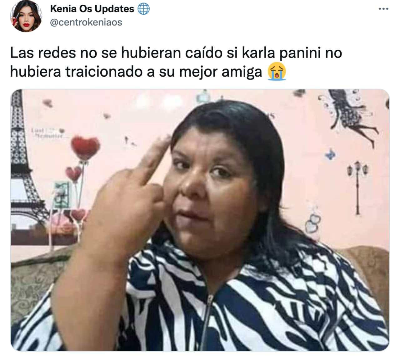 Culpan Karla Panini caida redes sociales