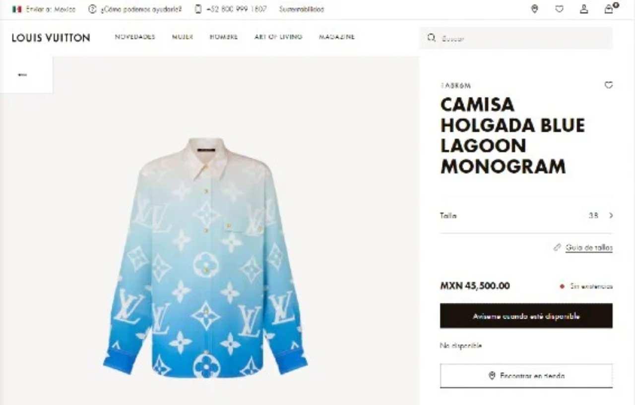 blusa Louis Vuitton cara