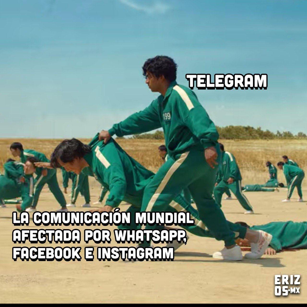 Telegram meme caida redes sociales