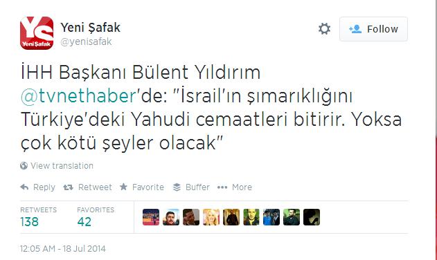 Twitter   yenisafak  İHH Başkanı Bülent ...