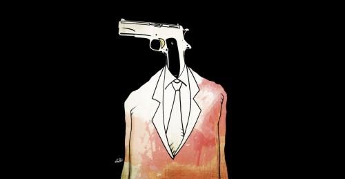 """Karikatürist Fadi Abou Hassan'ın """"İçişleri Bakanı"""" adlı çalışması"""