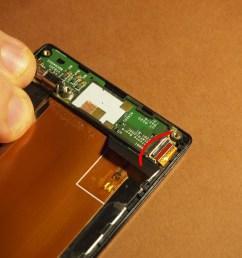 sony xperia j 12 sub board connettore flat  [ 1411 x 1058 Pixel ]