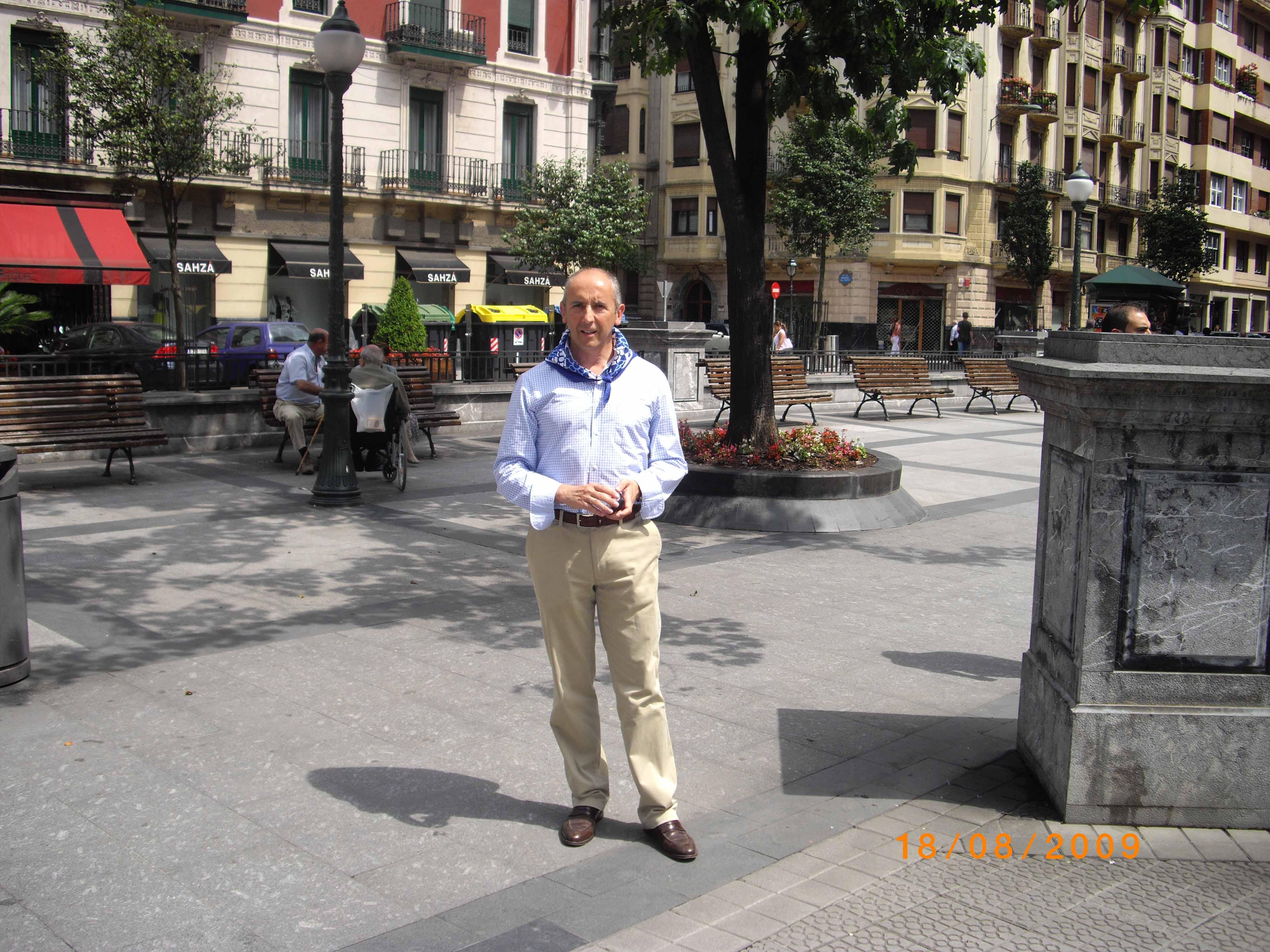 Imagen tomada en la plaza Pedro Eguillor de Bilbao