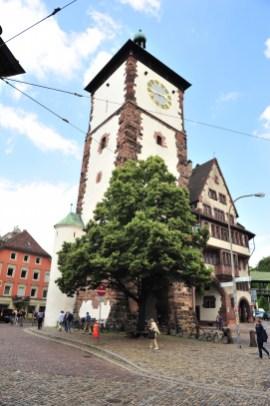 Eines der Wahrzeichen der Stadt Freiburg ist das Schwabentor