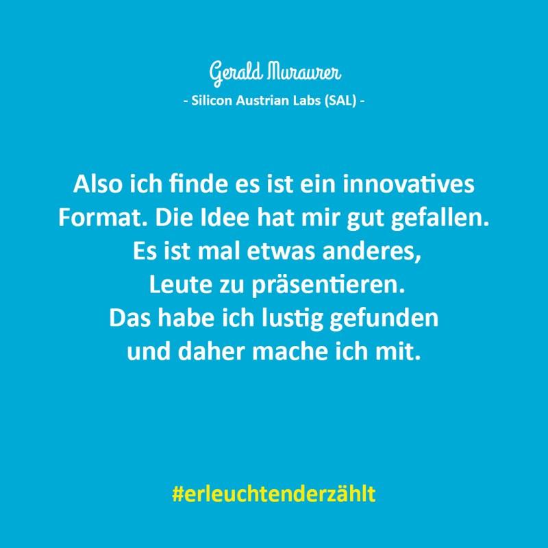 Chef Zitat Gerald Murauer Silicon Austrian Labs