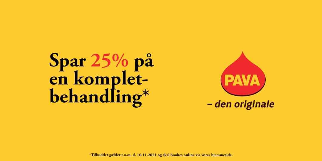 Spar 25% på PAVA kompletbehandling