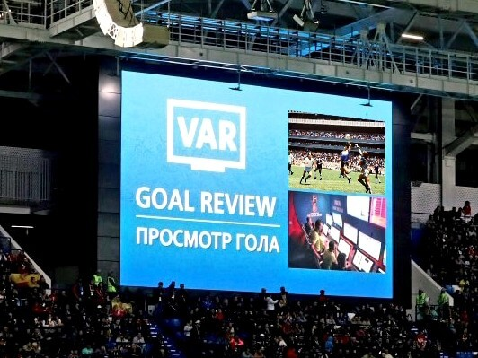 Ineens verscheen Maradona's doelpunt uit 1986 op het scherm.