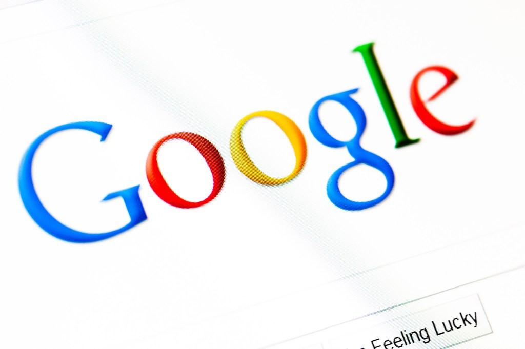 Google logo on a computer screen