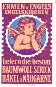 Ermen & Engels Warenzeichen wird 1894 im kaiserlichen Patentamt eingetragen.
