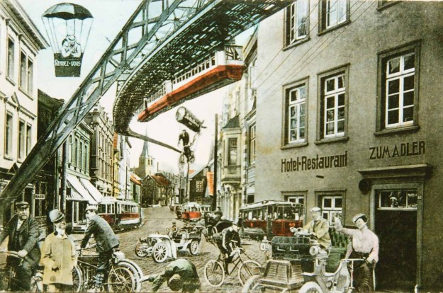 """Zukunftsvision """"Verkehr"""", um 1909"""