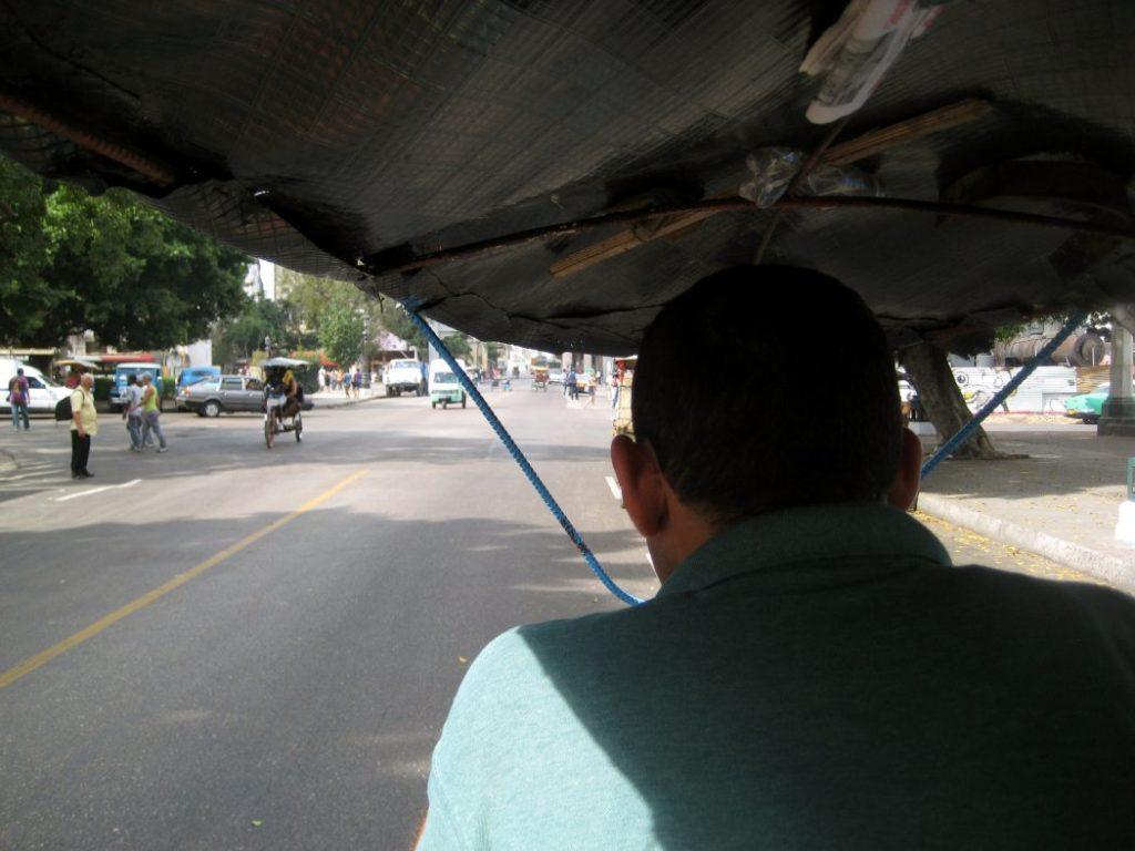 Bici taxi all'Havana