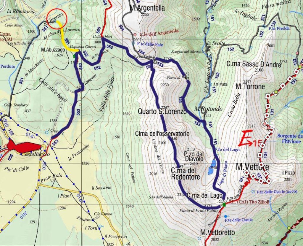 Itinerario ad anello Castelluccio - Forca Viola - Redentore - Laghi di Pilato - Castelluccio