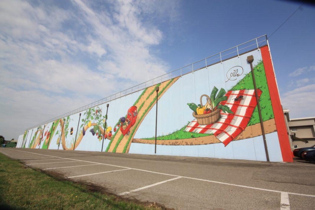 Murales realizzato da Cibo