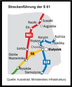 Verlauf der S 61