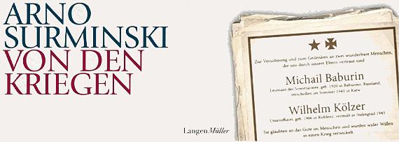 """Arno Surminski """"Von den Kriegen"""", Foto: Bearbeitung Cover © LangenMüller Verlag"""