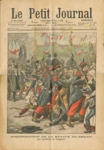 Inauguration de la statue de Renan. Les incidents à Tréguier (Le petit journal, 1903)