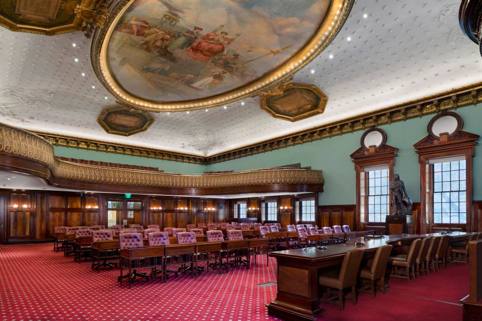 New York City Hall Council Chambers  Ernest Neuman Studios