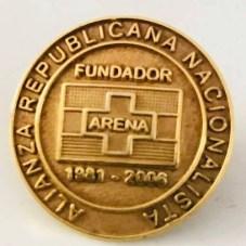 Entregado a los fundadores con motivo de celebrar los 25 años de fundación de ARENA