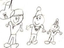 Primera Ilustración de Pepito Pelota y Pelotilla