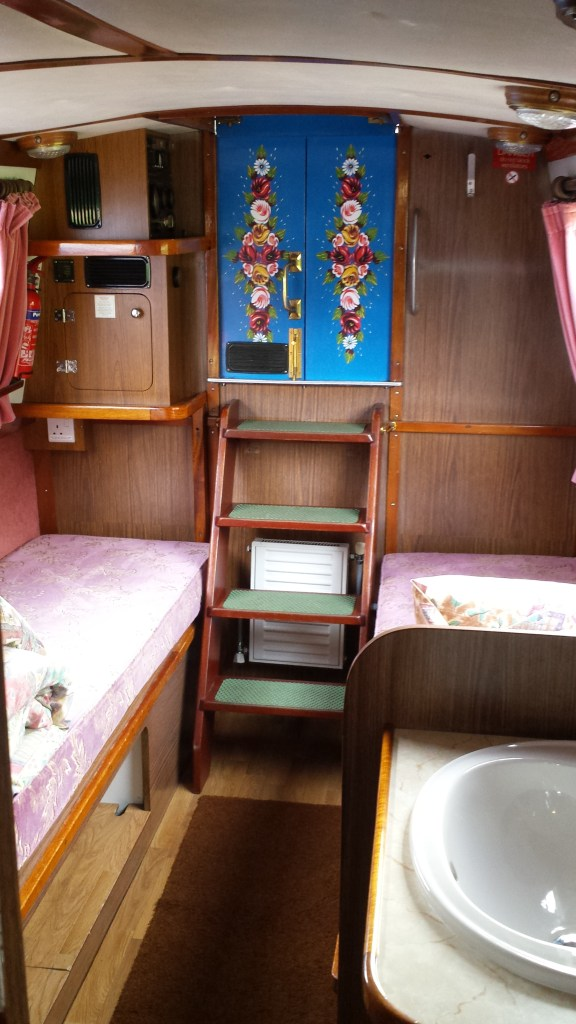 Sleeping area on Wyvern Shipping Company canal boat