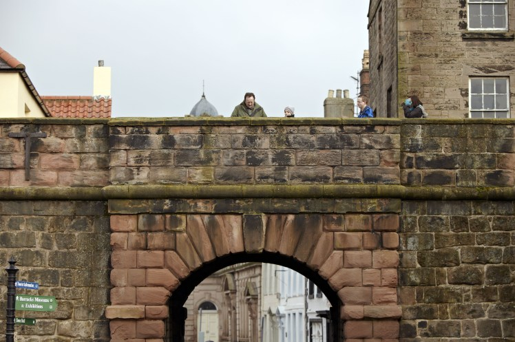 You can walk along the historic walls around Berwick-upon-Tweed