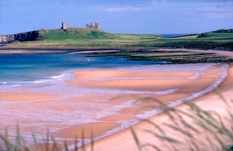 Dunstanburgh Castle by the sea