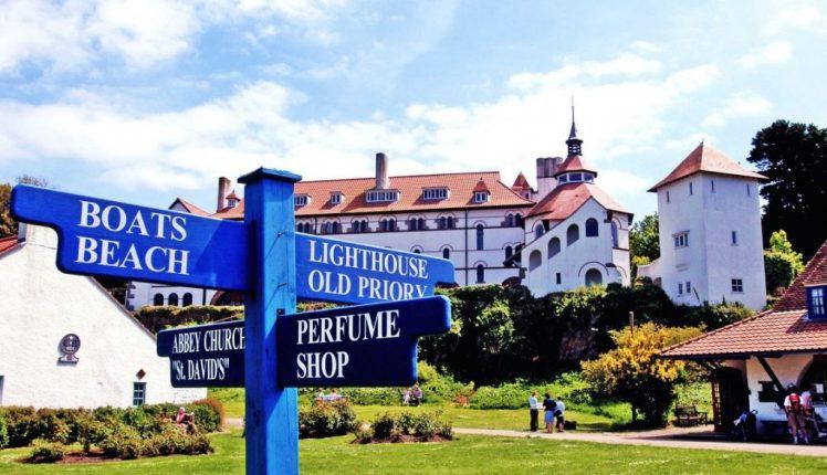 Signpost on Caldey Island