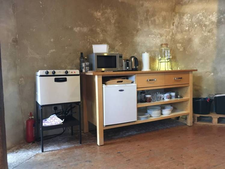 Kitchen area at Ballingdon Mill, Sudbury