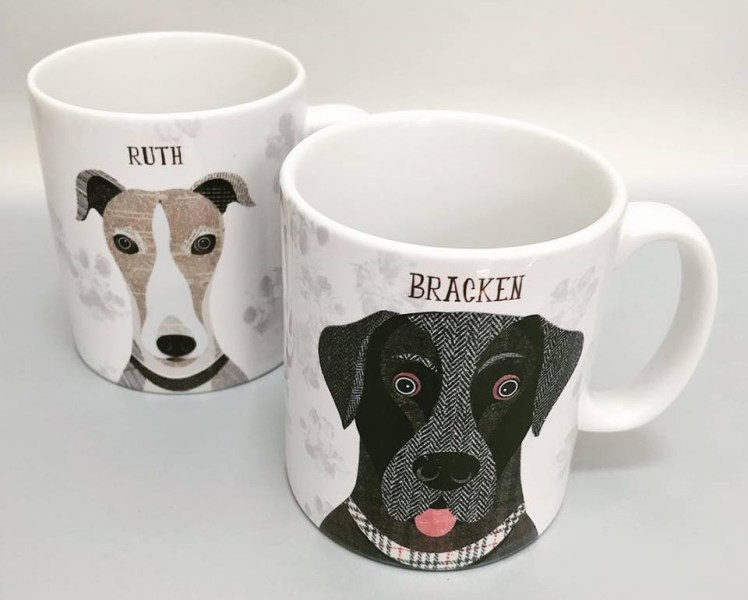 Simon Hart dog mugs