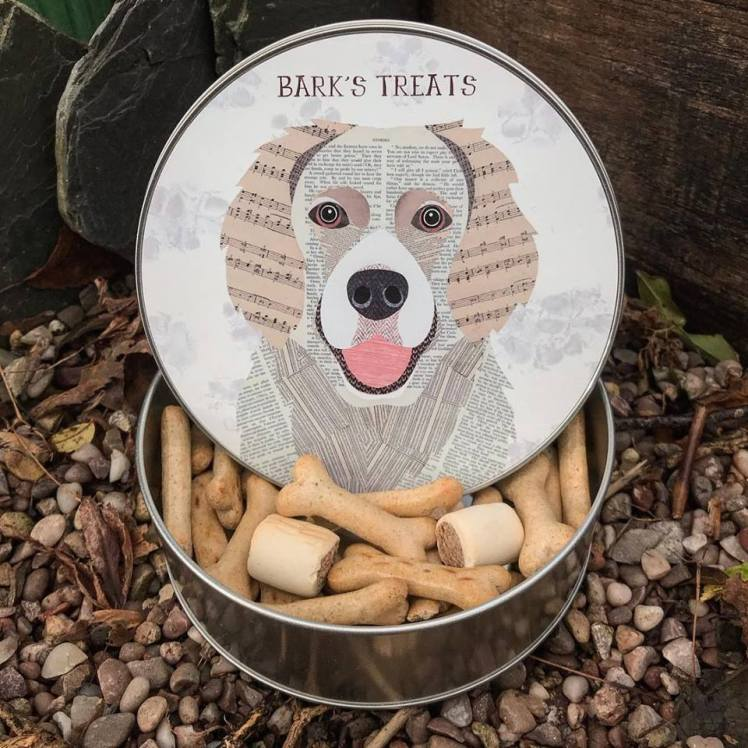 Simon Hart dog treat tin